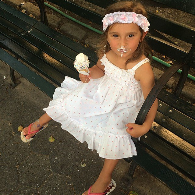 Arabella Rose Kushner enjoyed a Summer ice cream cone with her mom, Ivanka Trump. Source: Instagram user ivankatrump