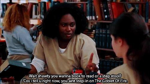 Because Taystee loves Harry Potter.
