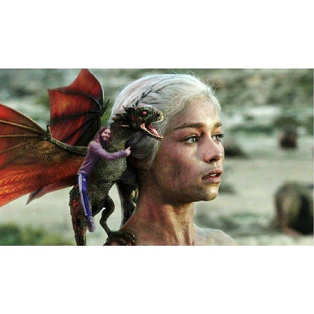 Jared Hugging a Dragon
