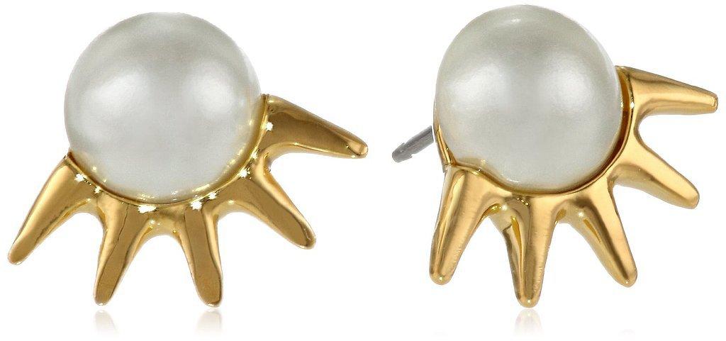 Sam Edelman Pearl Spike Stud Earrings