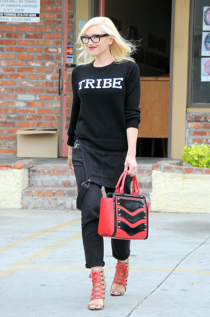 Gwen Stefani walked around LA on Tuesday.