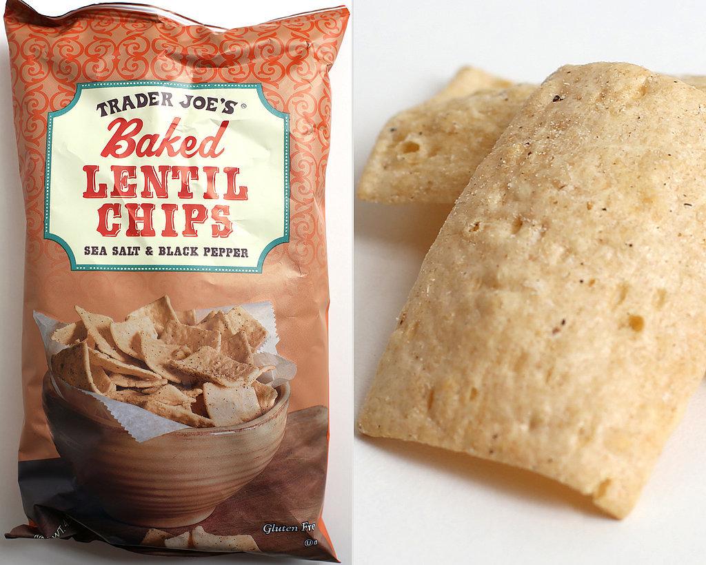 Baked Lentil Chips: Salt and Black Pepper ($2)