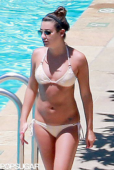 Lea Michele Marks a Sad Day With Rest, Relaxation, and Pool Time