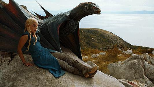 Oh, your kids are rambunctious? Daenerys Targaryen tries to tame dragons.