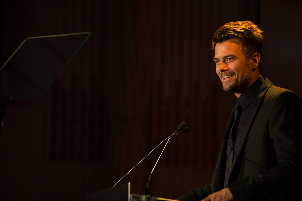 Josh Duhamel hit the stage during the amfAR Inspiration Gala in June 2014.