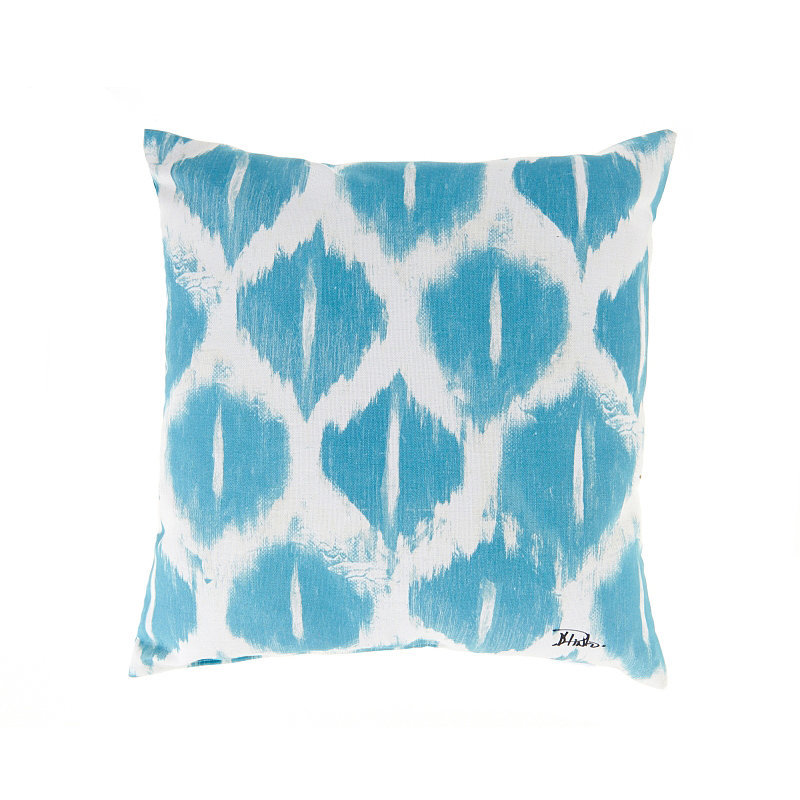 Get your money's worth from this blue ikat pillow ($17) that will easily add allure to your indoor and outdoor seating — no matter the season.