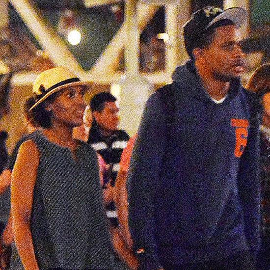 Kerry Washington and Nnamdi Asomugha at Disneyland