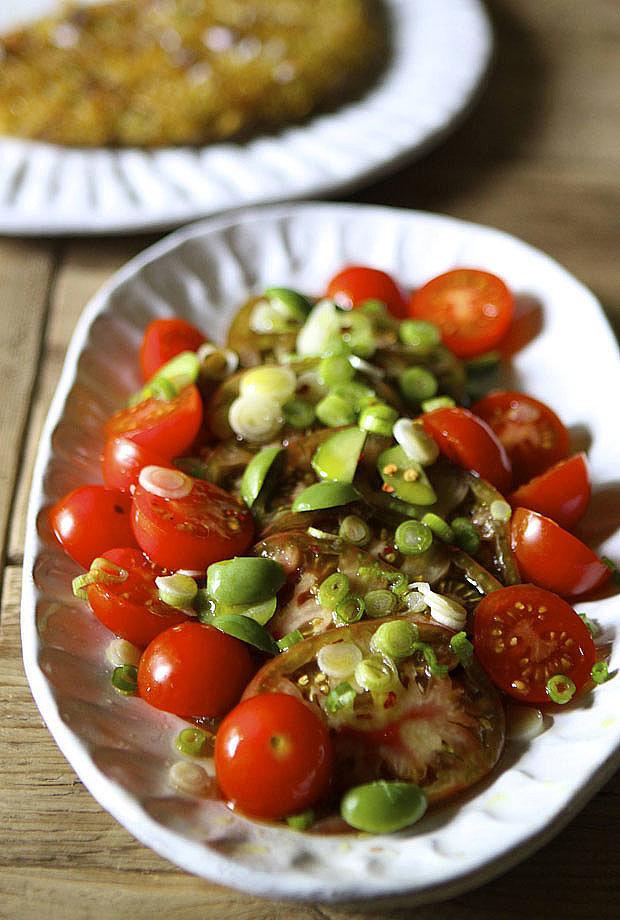 Balsamic Olive and Tomato Salad