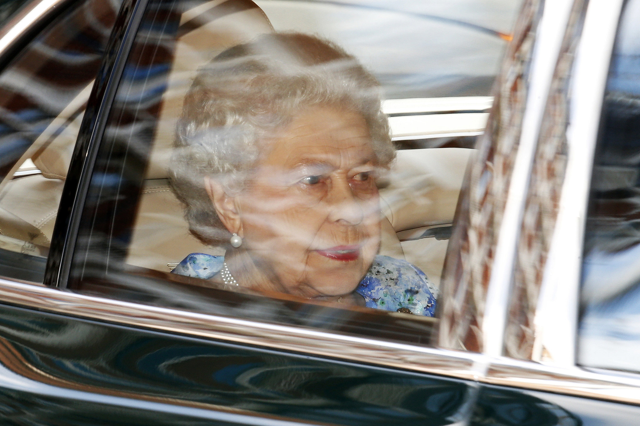 The queen arrived at Kensington Palace.