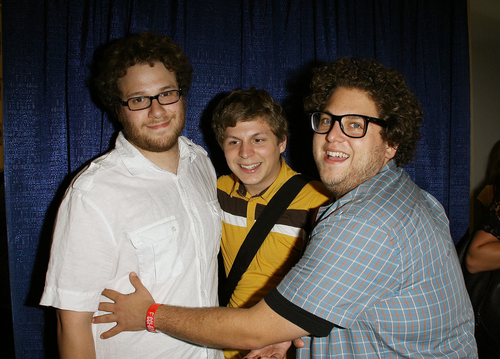 Seth Rogen, Michael Cera, and Jonah Hill buddied up at the convention in 2007.