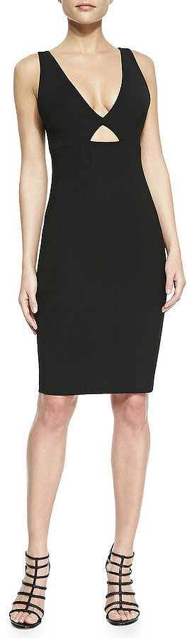 Alice + Olivia Black Cutout Sheath