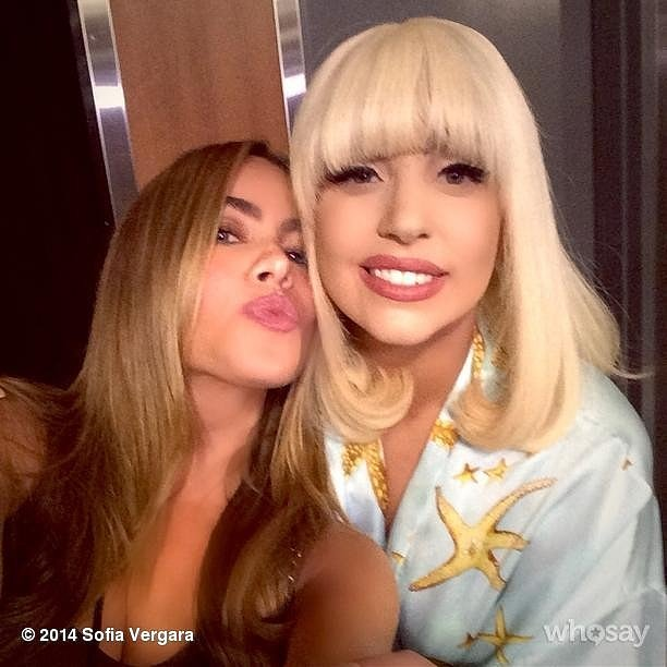 Sofia Vergara let all of her followers know she shared a moment with Lady Gaga in 2014.