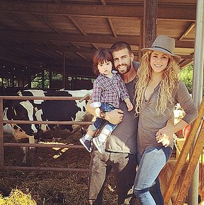 Shakira With Gerard Pique and Milan in the Countryside