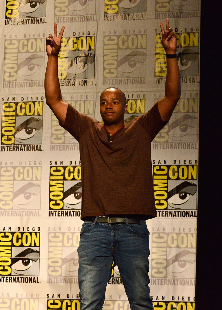 Donald Faison flashed some peace signs at the TV Land panel on Thursday.