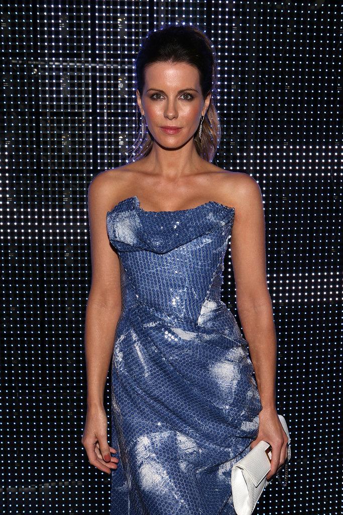Kate went strapless at the Porsche Design 40th Anniversary Event in LA in 2014.