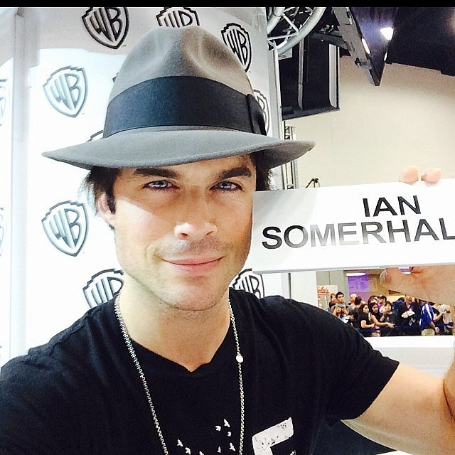 Ian Somerhalder took a selfie with his nameplate and, in the process, showed off his baby blues. Source: Instagram user iansomerhalder
