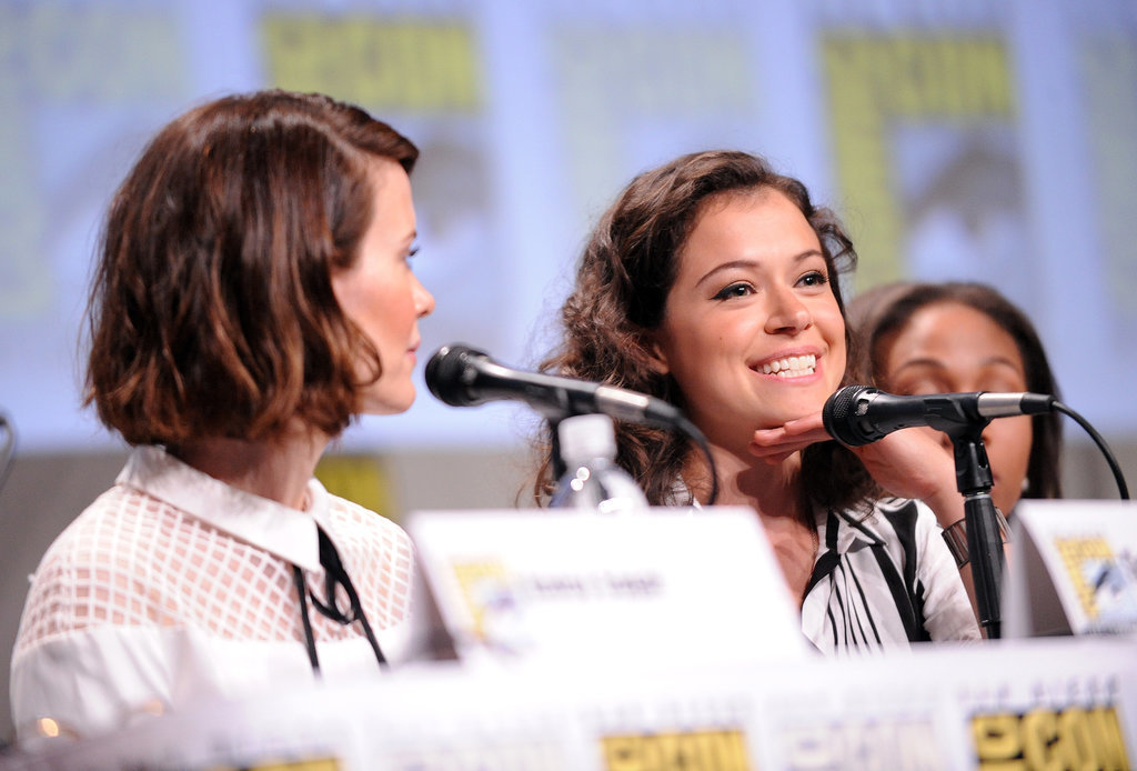 Sarah Paulson and Tatiana Maslany attended Entertainment Weekly's Women Who Kick Ass panel on Saturday.