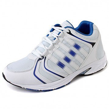 White Urltra-Light Elevator Running shoes for Men Increase Height 7.5cm / 3inches Casual Sports Shoes