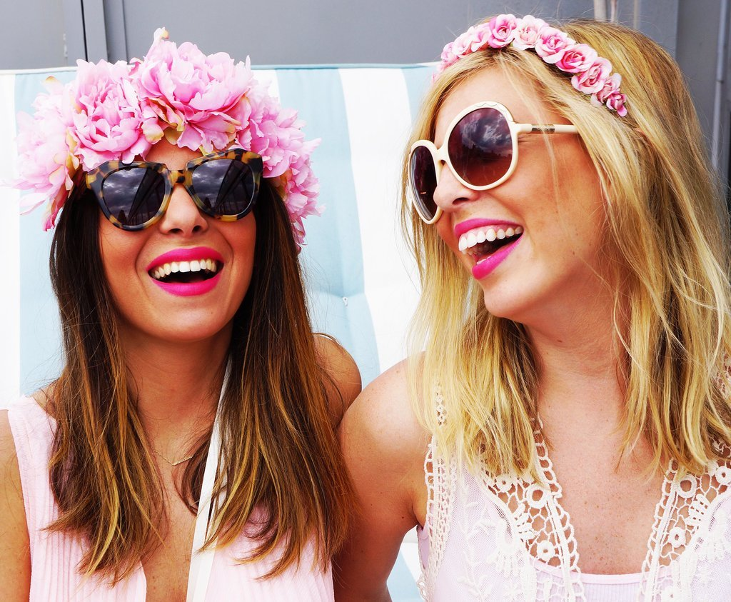 POPSUGAR: Festivals are long and hot, is there any way to make a flower crown last? Christy Meisner: For festivals, some people like fake flowers that will last for a few days. If you're wearing real flowers, keep them in the refrigerator before to help them last longer throughout the day. Just know that once you're wearing the crown in the heat, the time counts down, like Cinderella. That's sort of the beautiful thing about them; they only last for so long, so you want to make the most of it while you can. PS: Will certain flowers stand the heat better?  CM: Sometimes smaller blooms are better for that. I love using wax flowers. I also love to use freesiasince they usually can hold a little bit longer. If you're doing larger daisies or roses, they have a shorter life span, as beautiful as they are.  PS: Do you ever use flowers with scents?  CM: Jasmine is great for adding scent. There's not a ton of color in the blooms, but you can kind of weave them in with other flowers to create the smell. Wax flowers also have a minty smell to them. Sometimes I will also spray them with fragrance to give it an extra scent. So, if you want your crown to smell, you can always spray it with your own perfume. Source: Crowns by Christy