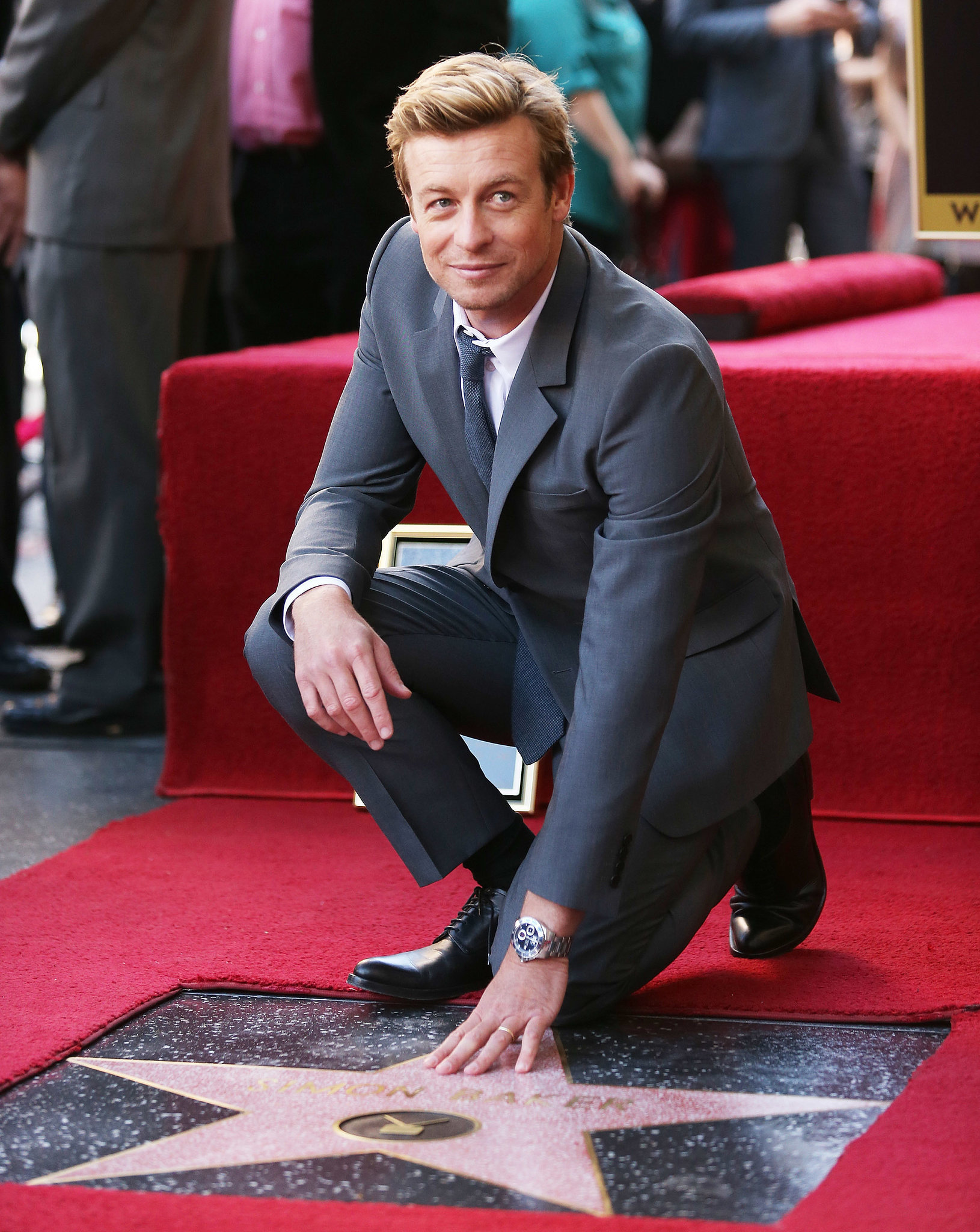 Simon Baker is basically your perfect man. Here he is looking devastatingly hot with his star on the Hollywood Walk of Fame.