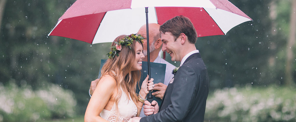 Rain Only Adds Romance to This Boho Wedding