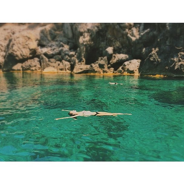 Lily Aldridge floated away in Spain.  Source: Instagram user lilyaldridge