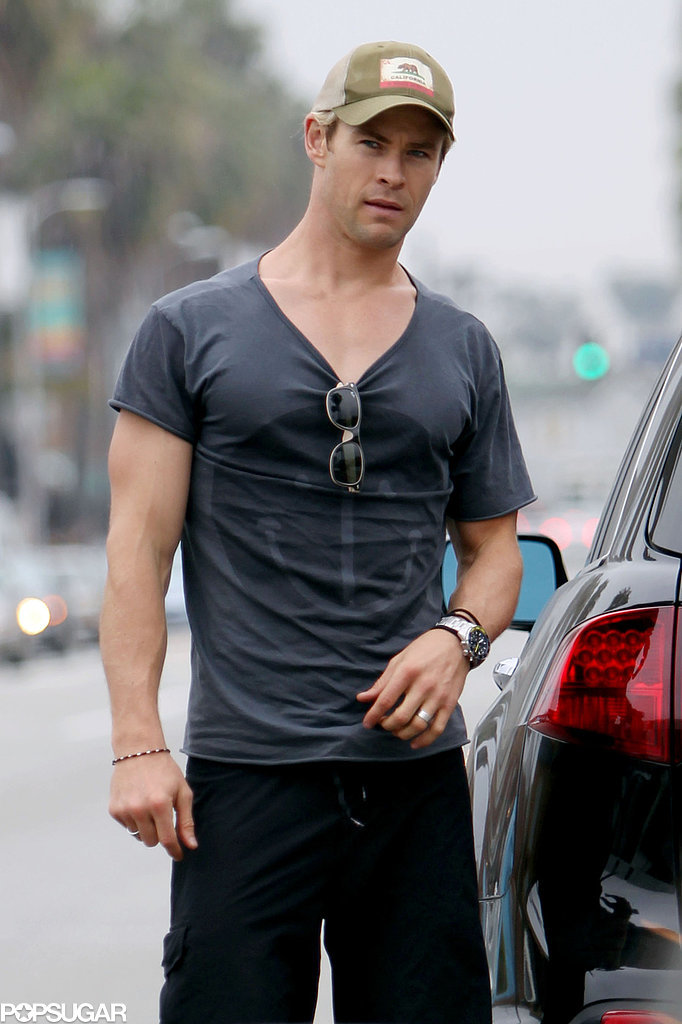 This shirt pretty much gave up after being on Chris Hemsworth.