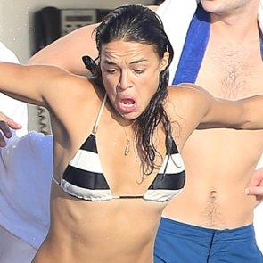 Michelle Rodriguez in a Bikini in Ibiza 2014 | Pictures