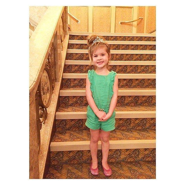Tiffani Thiessen took her daughter to see Cinderella on Broadway.  Source: Instagram user tathiessen