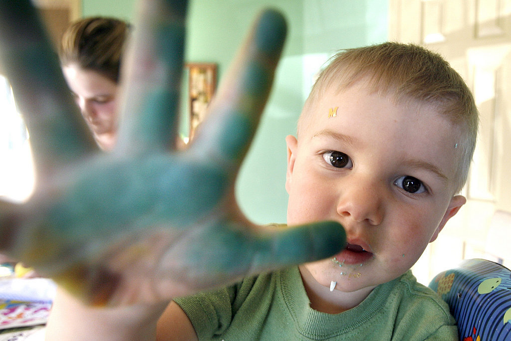 The time he was caught blue-handed . . .