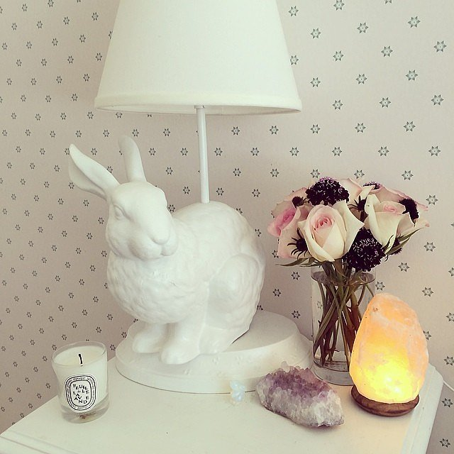 A few quirky pieces can go a long way! Pick functional decorations that have a wacky twist, like this bunny lamp. It will be a great conversation starter, and you'll smile every morning.