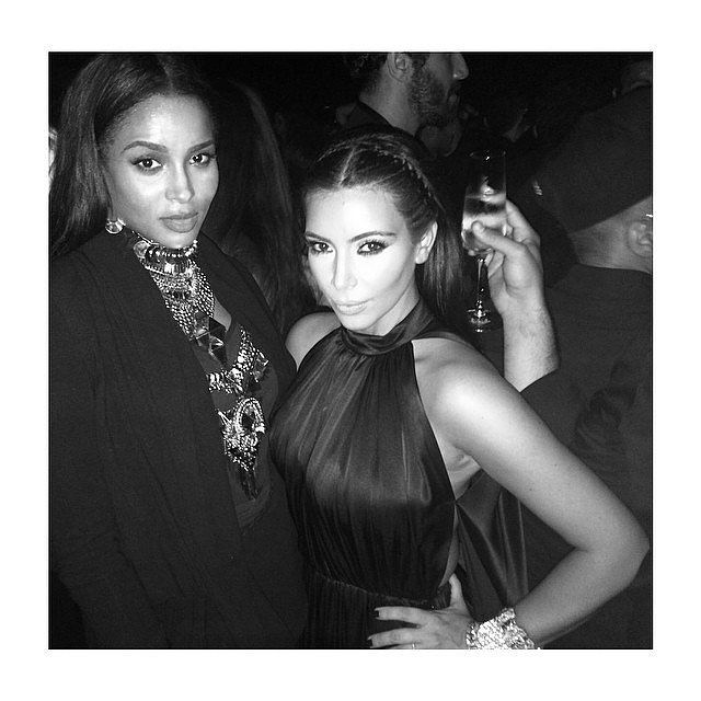 "It was a ""mommy's night out"" for Kim and Ciara, who gave birth to a baby boy in May.  Source: Instagram user kimkardashian"