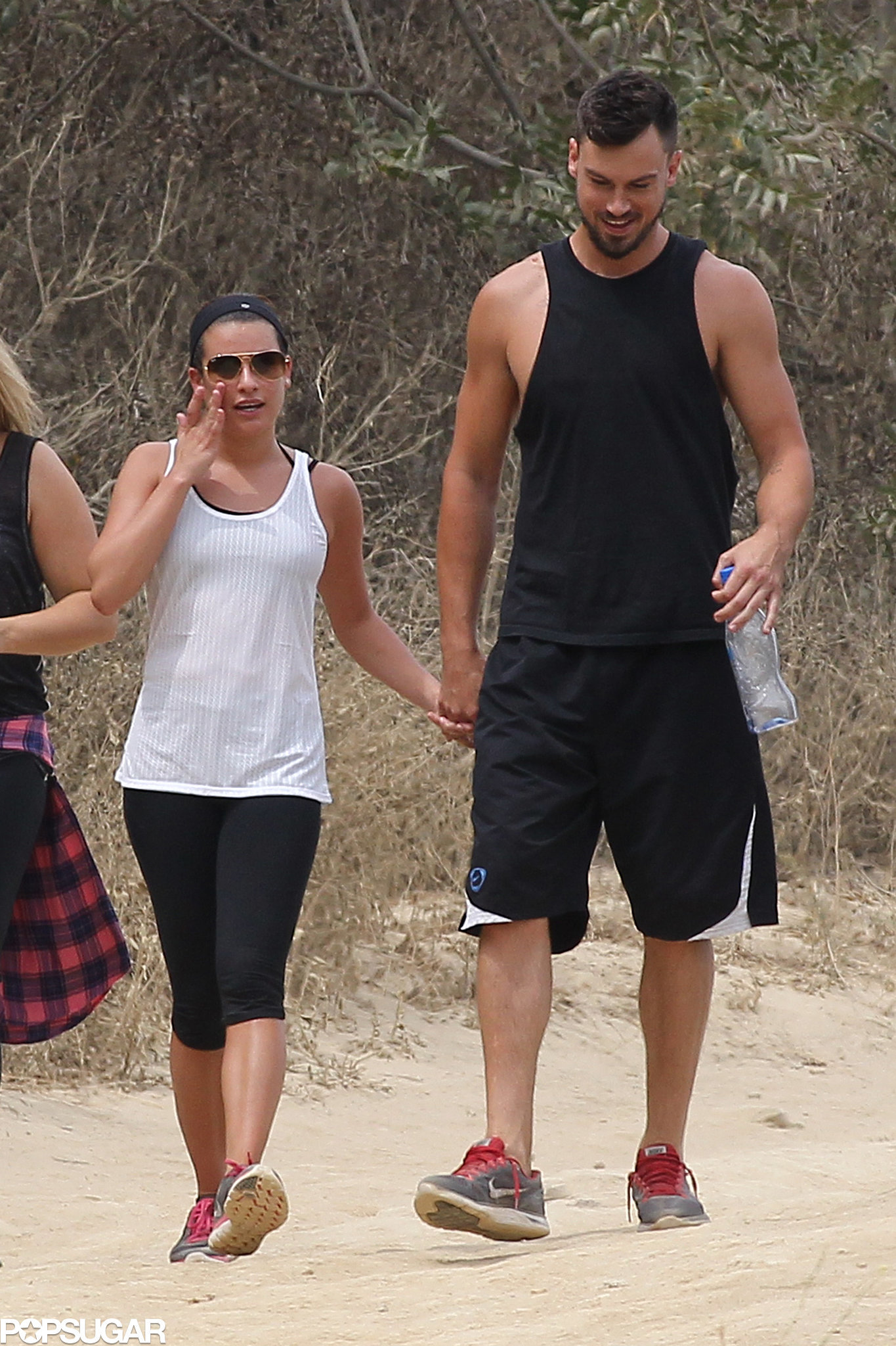 Lea Michele and Her Boyfriend Can't Stop Holding Hands