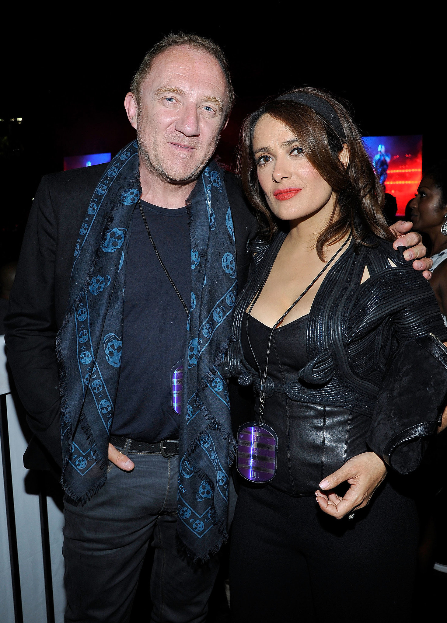 Salma Hayek and Francois-Henri Pinault attended the show on Saturday.