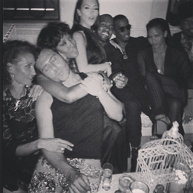 Party Guests Including Riccardo Tisci, Naomi Campbell, Kim Kardashian, and Kanye West