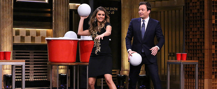 Fact: Nina Dobrev Has Epic Giant Beer Pong Skills