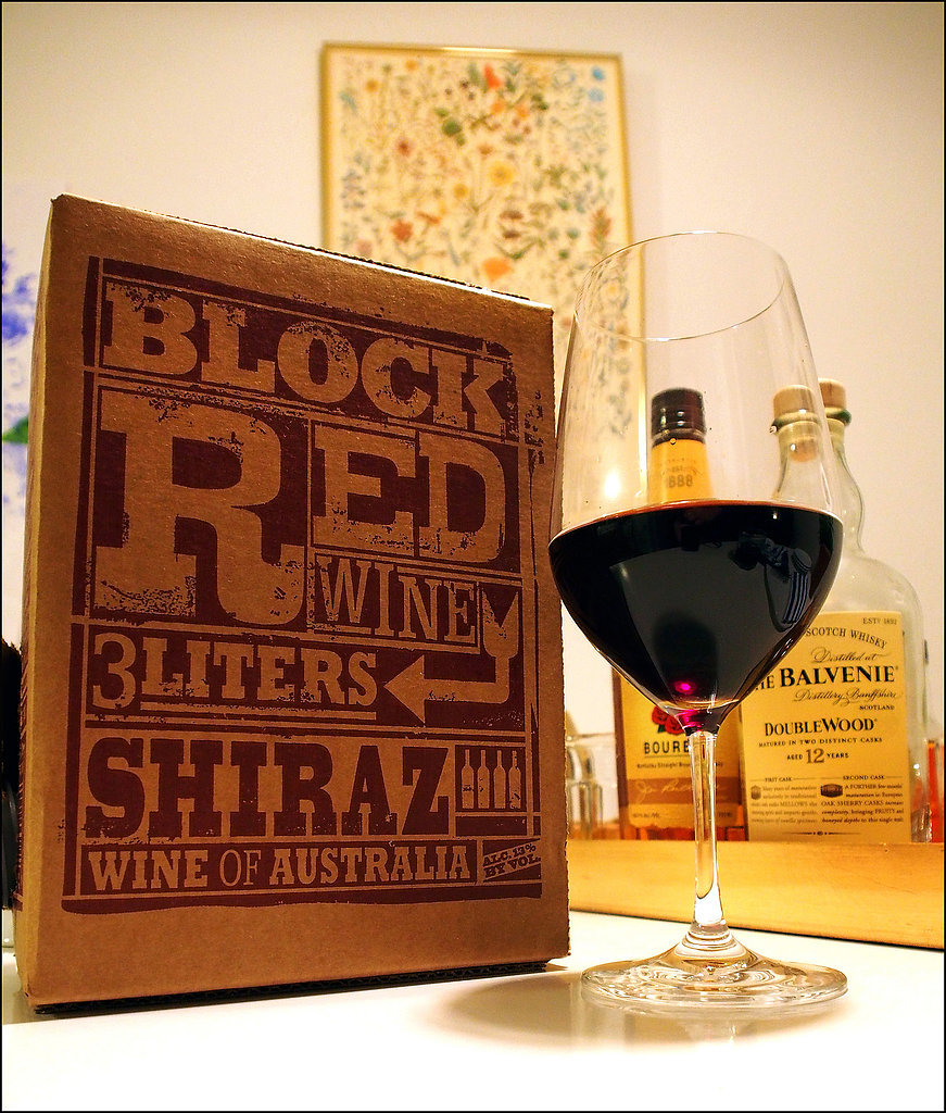 Wine in a box.