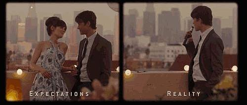 The expectations vs. reality split screen is heartbreaking and perfect.