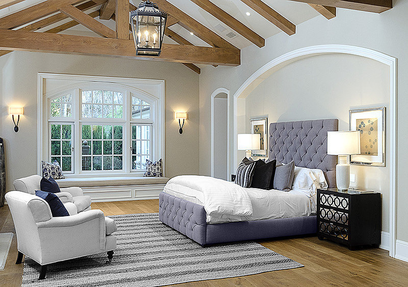 The bedrooms in the family's estate are spacious, airy, and comfortable.  Source: Zillow