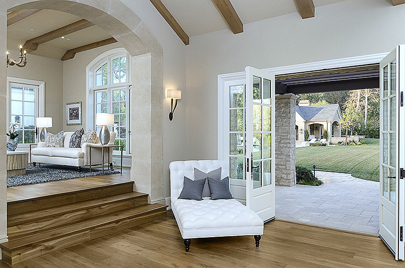Openness between the indoor and outdoor living areas allow for easy entertaining and give ample space for North to play.  Source: Zillow