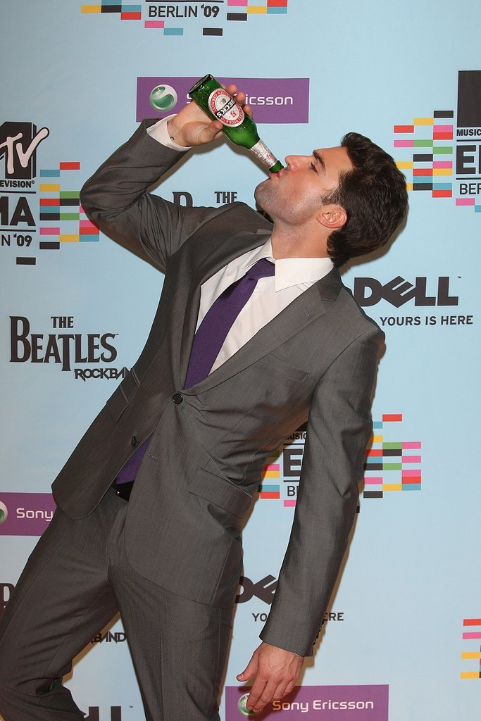 When He Chugged a Drink on the Red Carpet