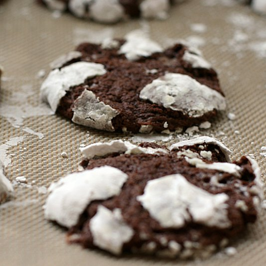 Chocolate Marshmallow Crinkle Cookies