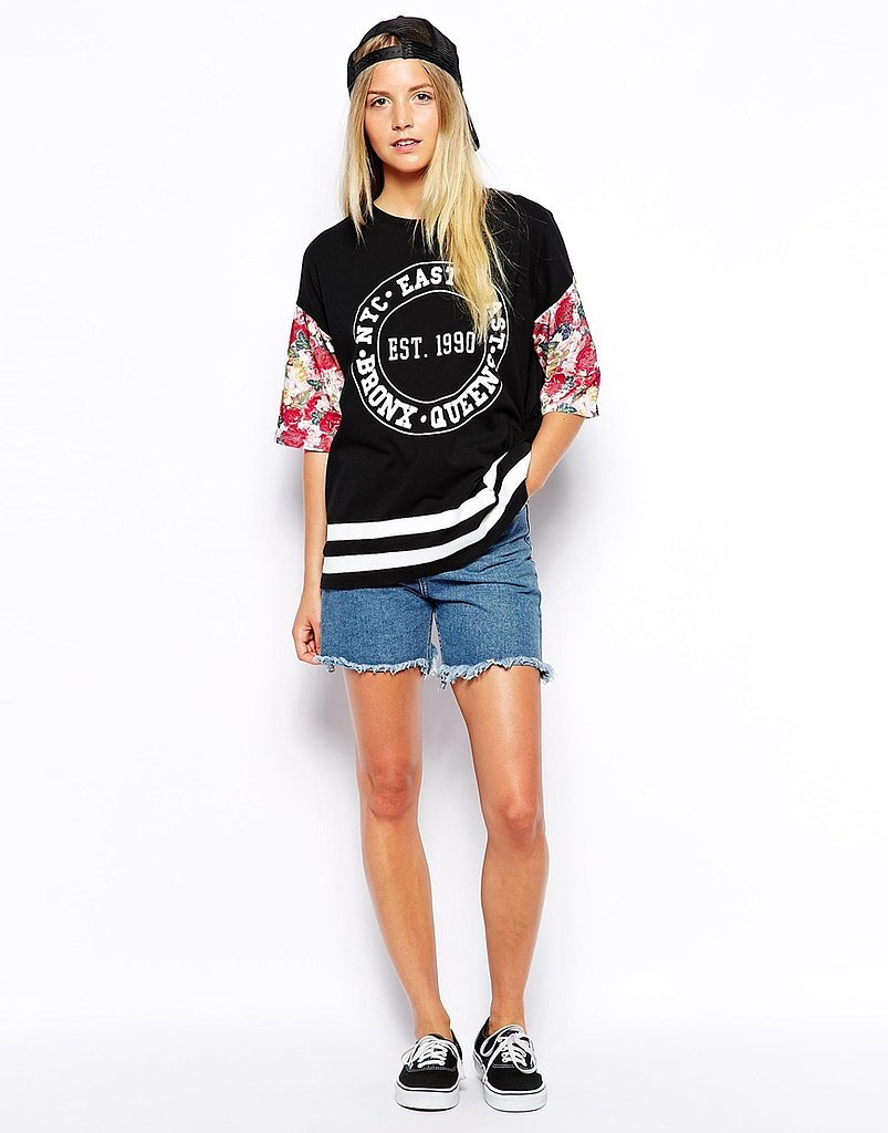 ASOS Petite Oversized T-Shirt With Floral Print