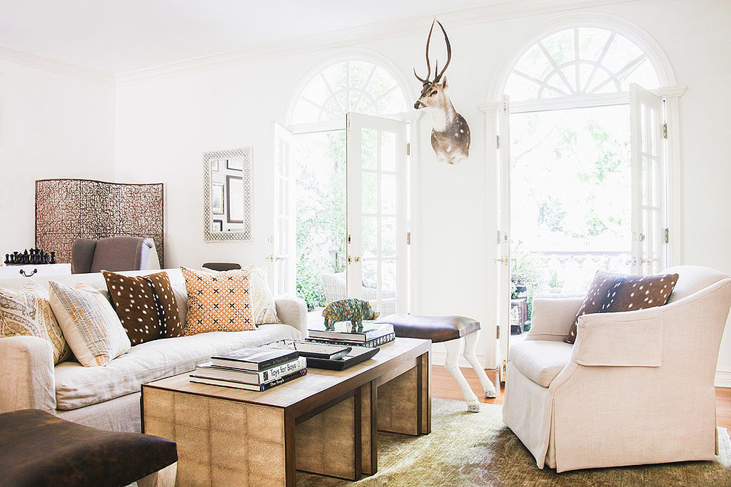 A neutral but warm color palette helps create a cozy environment.  Photo by Tessa Neustadt. via Homepolish