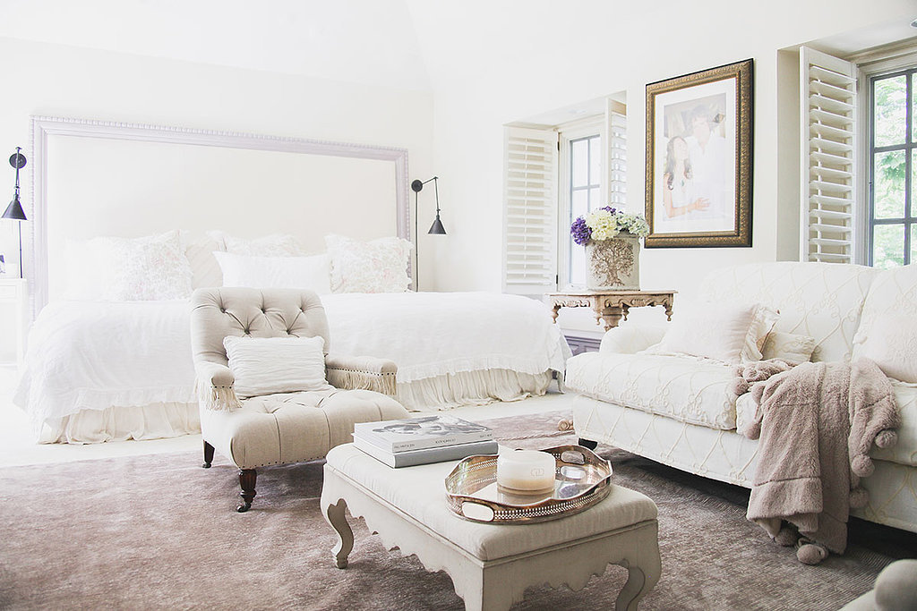 Add extra purpose to a bedroom by creating a seating nook.  Photo by Tessa Neustadt. via Homepolish