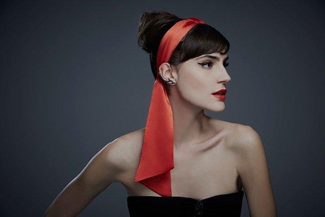Silk Charmeuse Bow Tie Headstrap ($148)