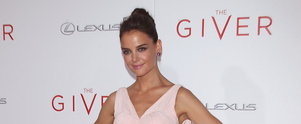 Katie Holmes Is Making the Spin Class Topknot Red Carpet Chic