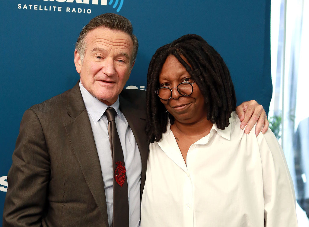 Robin and Whoopi Goldberg were longtime friends and posed together while appearing on Sirius XM's Town Hall series in September 2013.