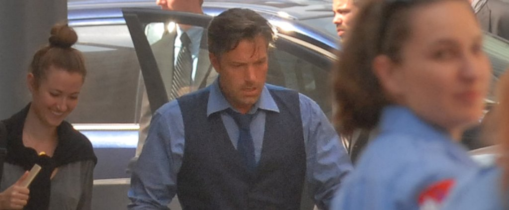 Here's Ben Affleck as Bruce Wayne on the Batman v Superman Set!