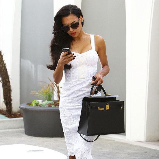 Naya Rivera in White Dress